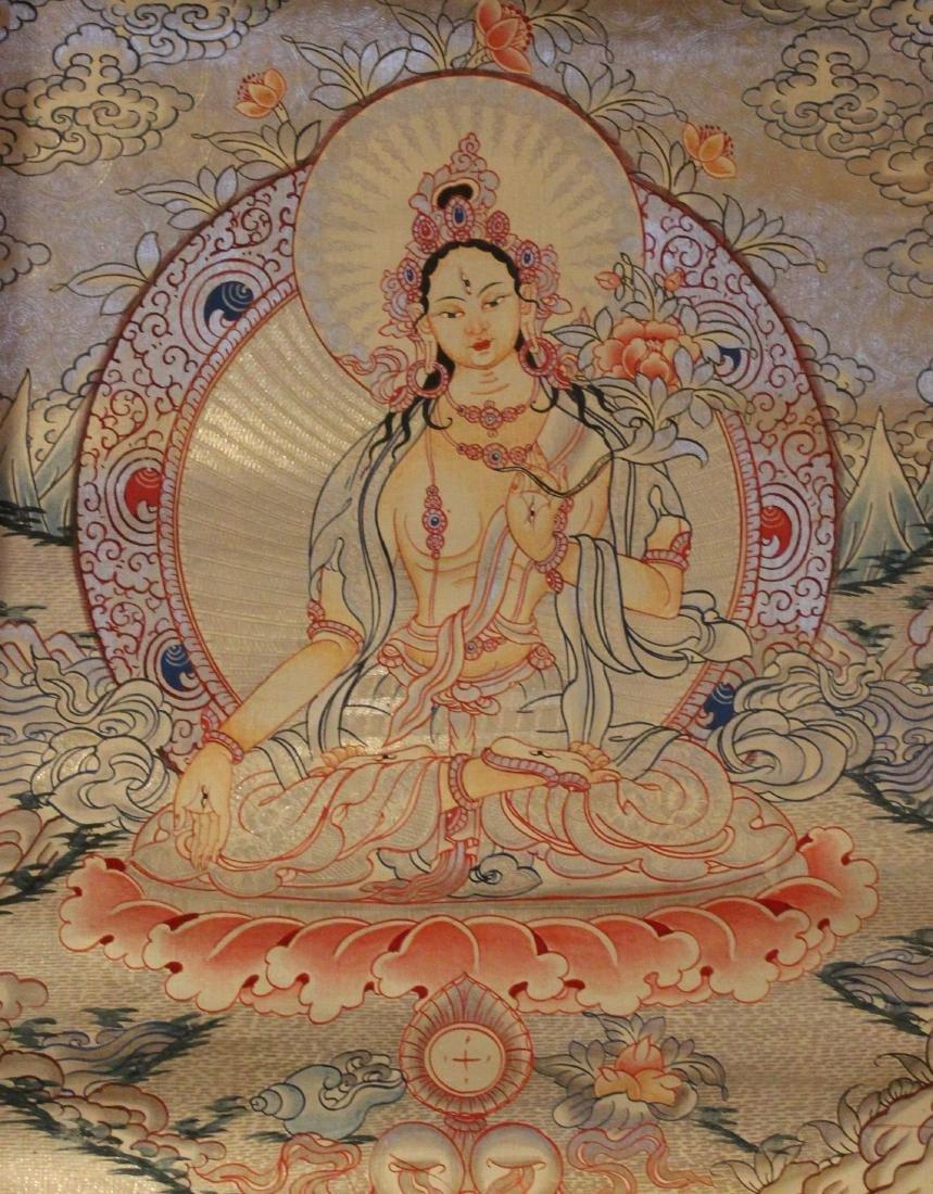 An Estate Tibetan Religious Thangka Display
