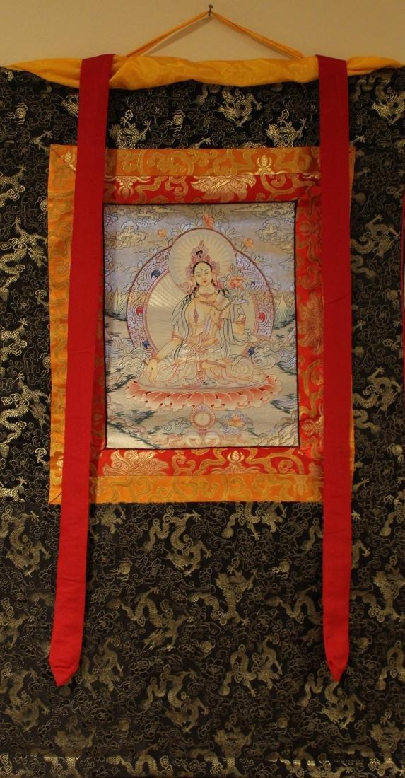 An Estate Tibetan Religious Thangka Display - 2