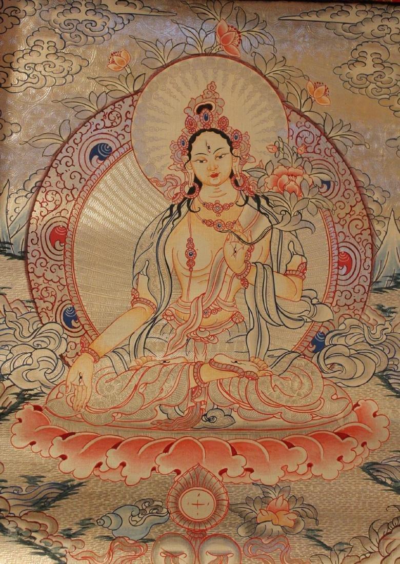 An Estate Tibetan Religious Thangka Display - 3