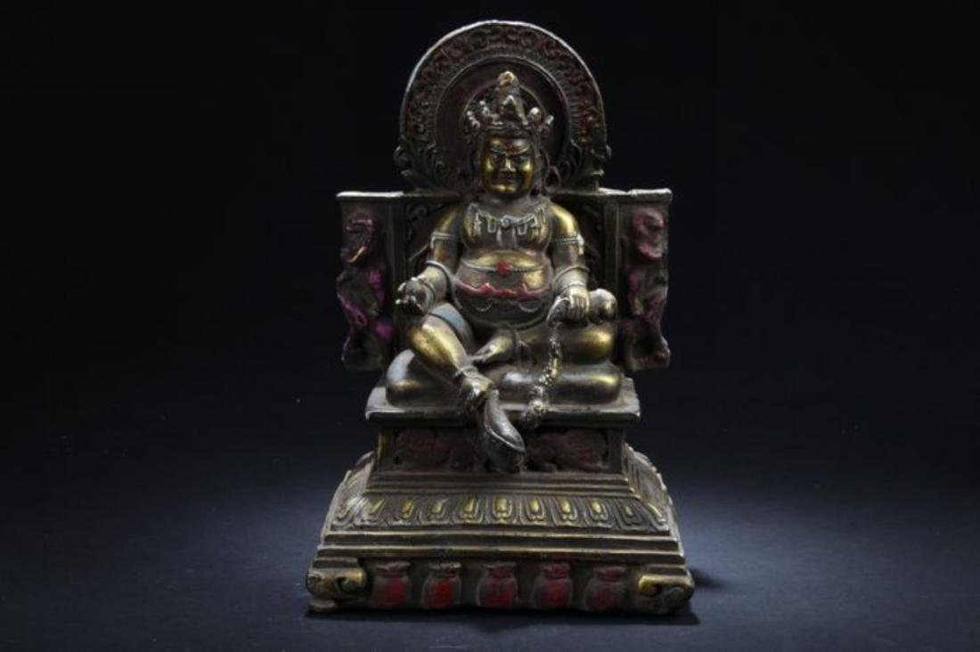 A Seated Religious Anicent-framing Tibetan Statue