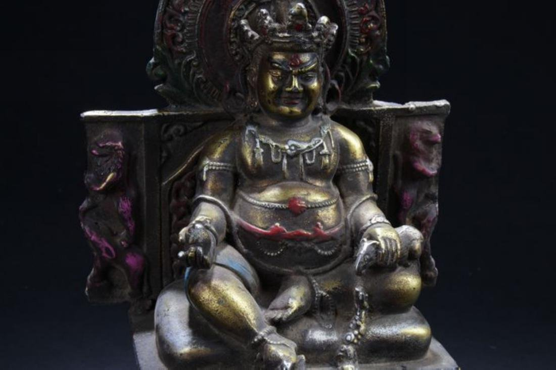 A Seated Religious Anicent-framing Tibetan Statue - 2