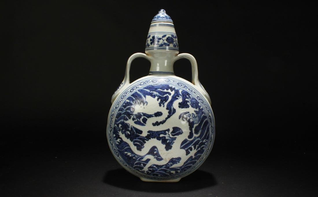 A Chinese Dragon-decorating Blue and White Porcelain
