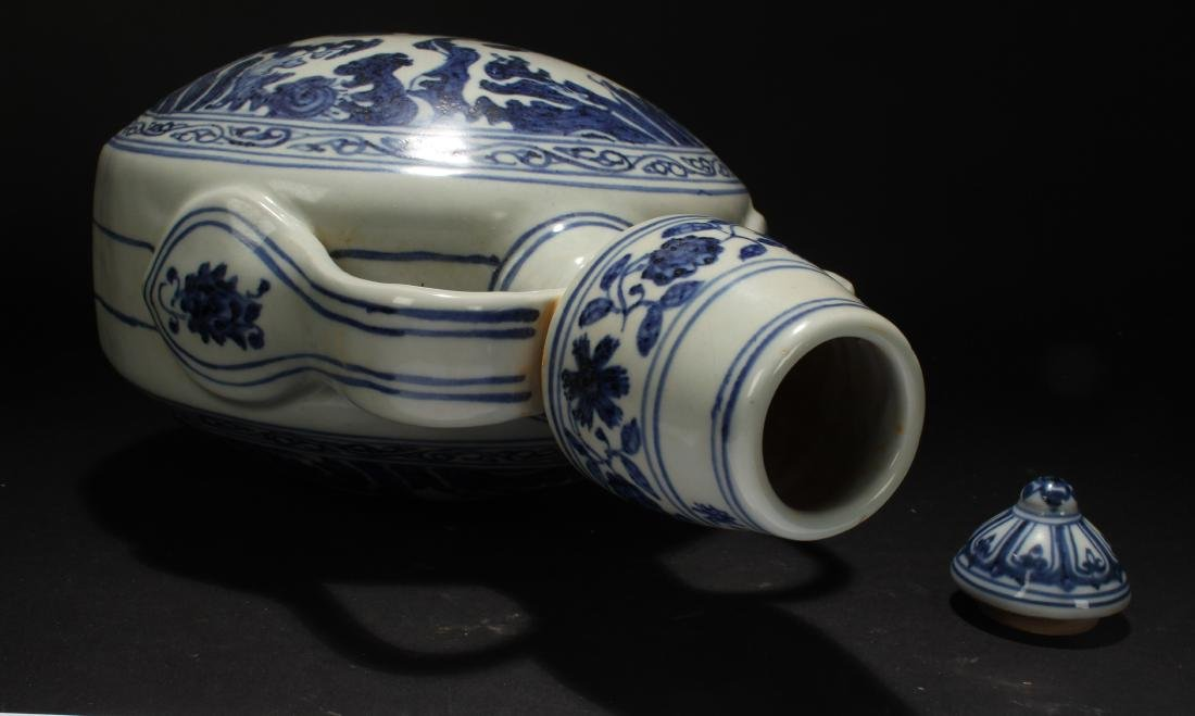 A Chinese Dragon-decorating Blue and White Porcelain - 6