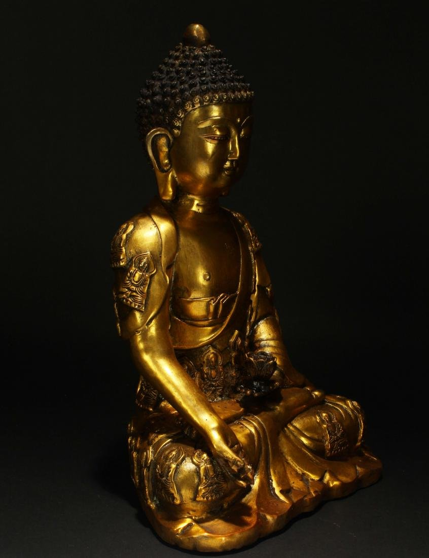 An Estate Chinese Religious Buddha Statue - 2