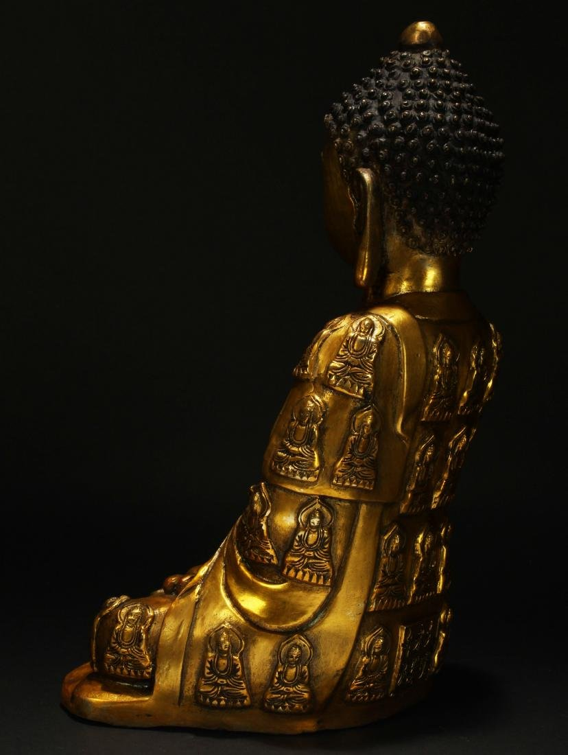 An Estate Chinese Religious Buddha Statue - 4