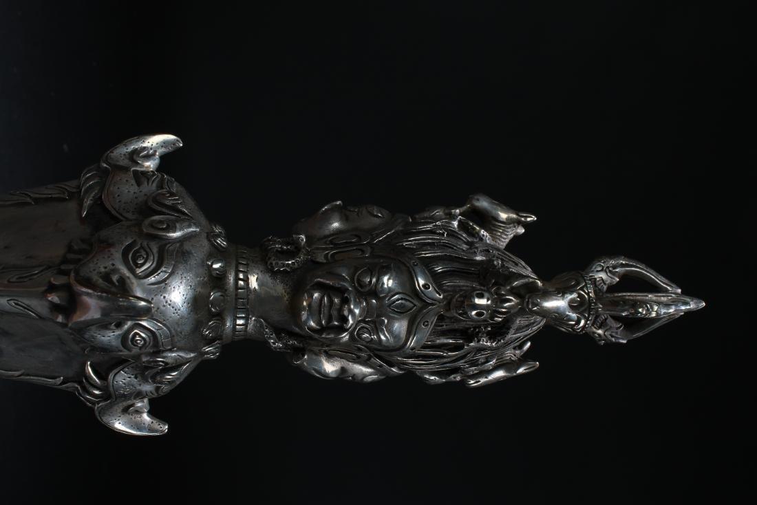 A Tibetan Estate Dagger Religious Display - 7