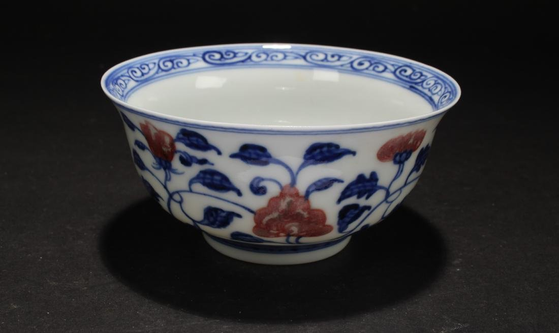 A Chinese Blue and White Porcelain Cup Display - 2