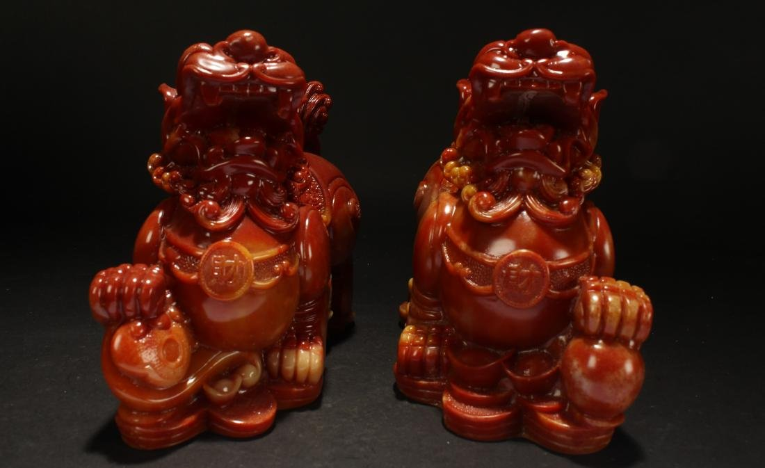 A Pair of Chinese Estate Myth-beast Statue Statue - 2