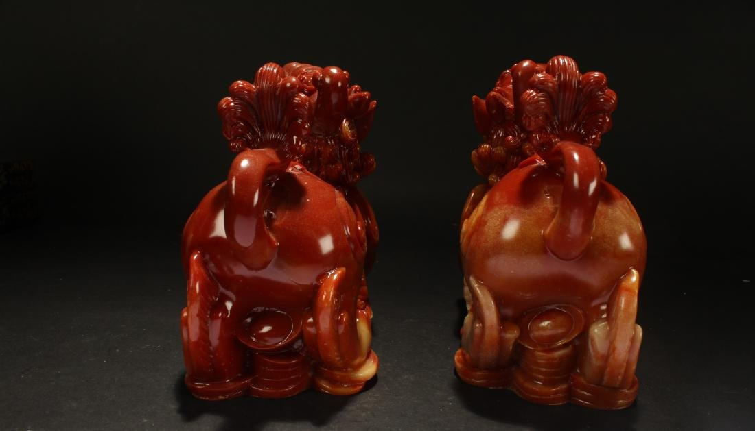 A Pair of Chinese Estate Myth-beast Statue Statue - 4