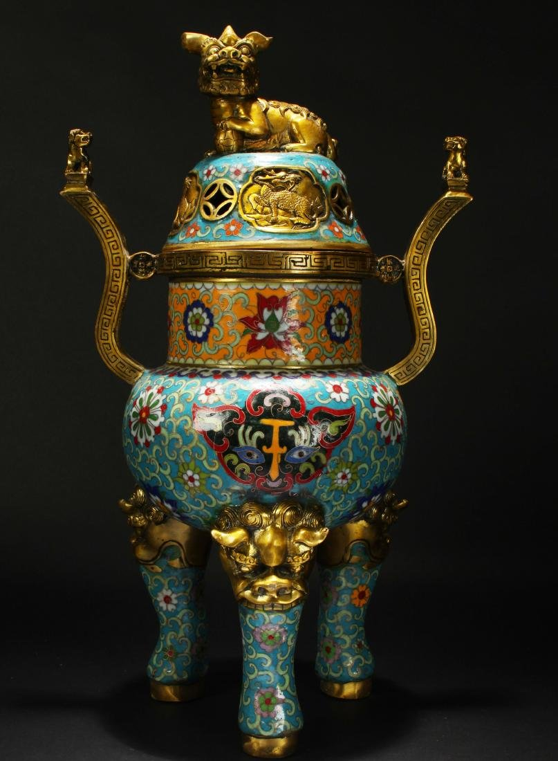 An Estate Chinese Massive Myth-beast Cloisonne
