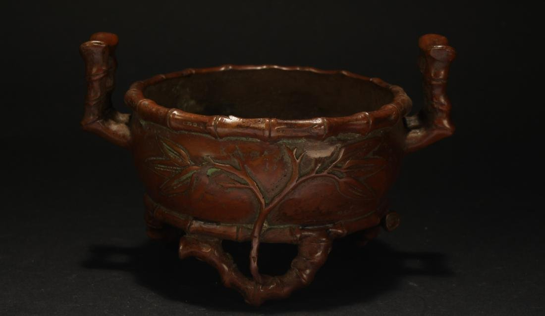A Chinese Bamboo-fortune Estate Censer Display