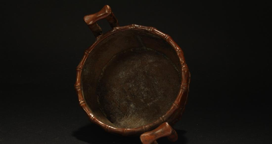 A Chinese Bamboo-fortune Estate Censer Display - 5