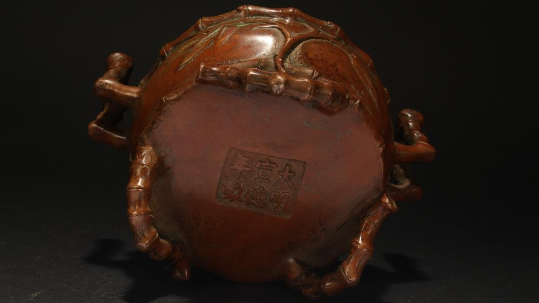 A Chinese Bamboo-fortune Estate Censer Display - 6