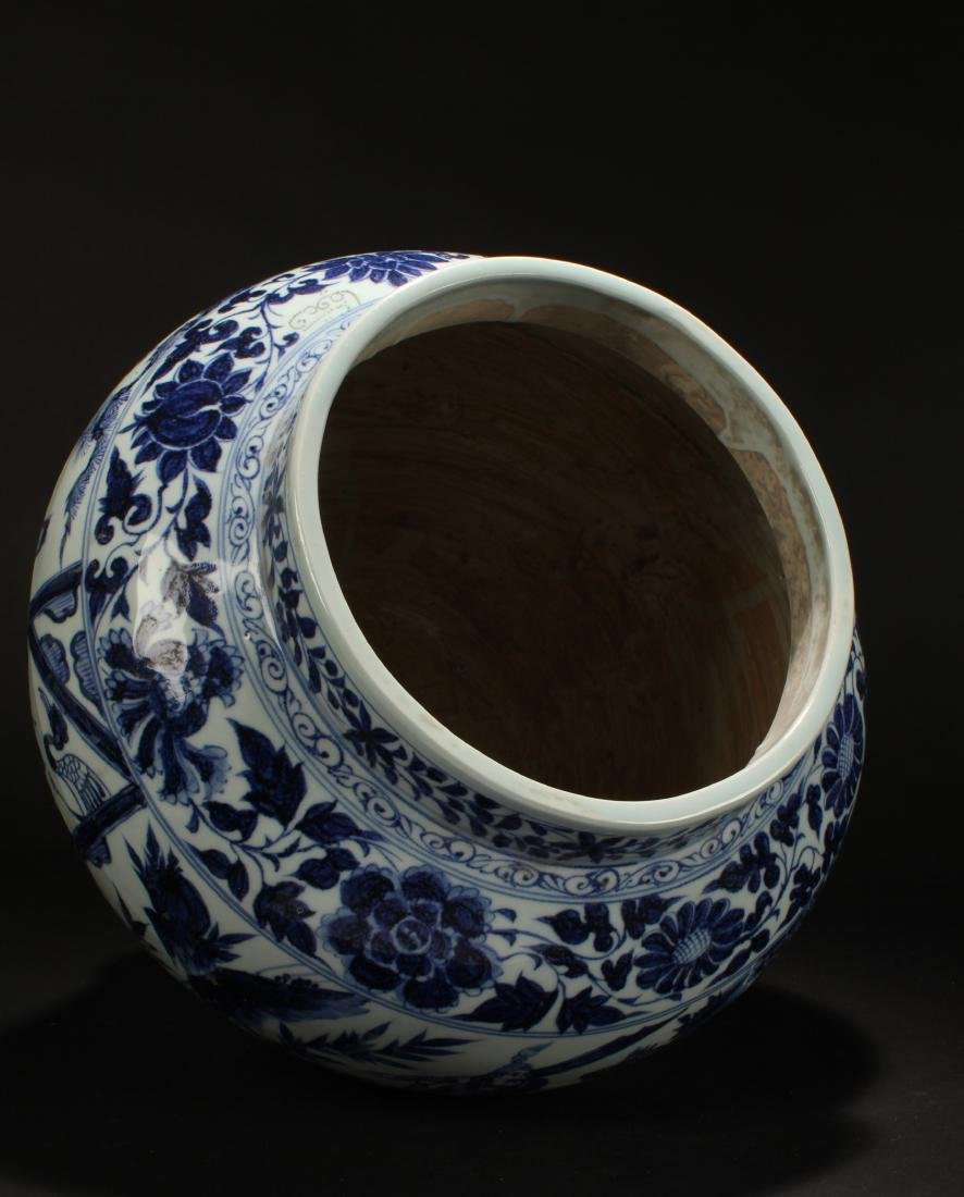 An Estate Chinese Blue and White Porcelain Vase Display - 6