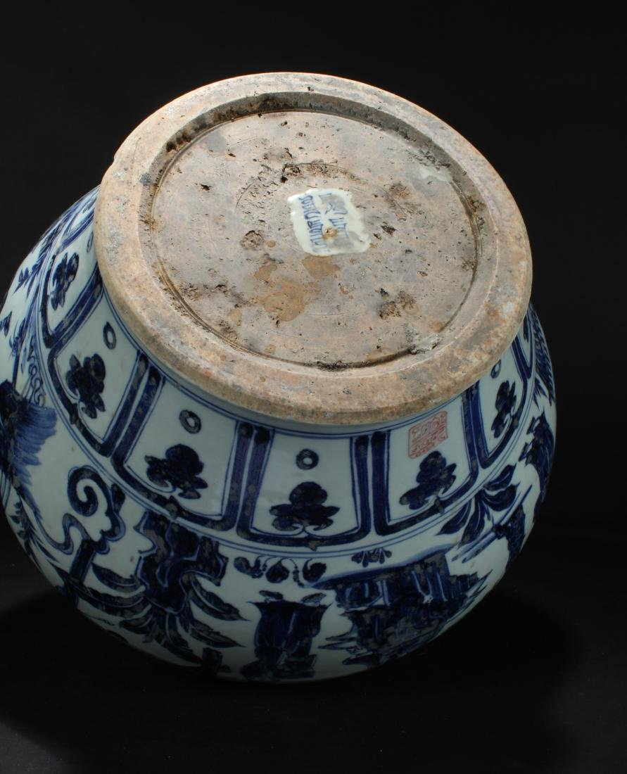 An Estate Chinese Blue and White Porcelain Vase Display - 7