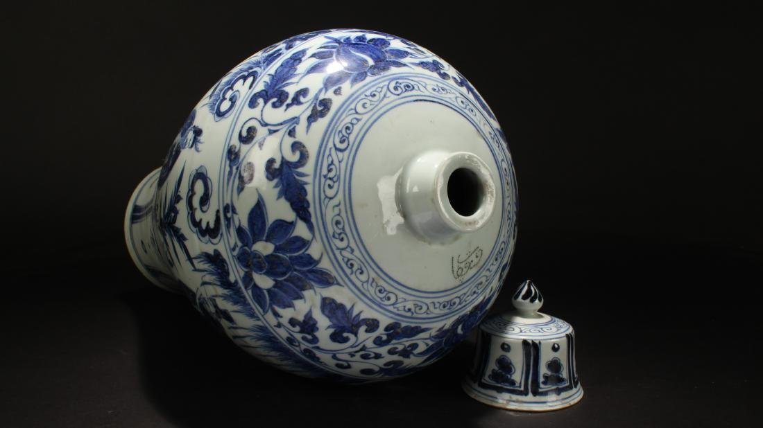 A Chinese Lidded Story-telling Blue and White Estate - 5
