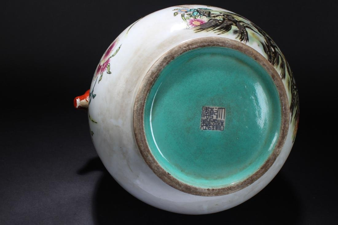 A Chinese Duo-handled Estate Nature-sceen Porcelain - 6