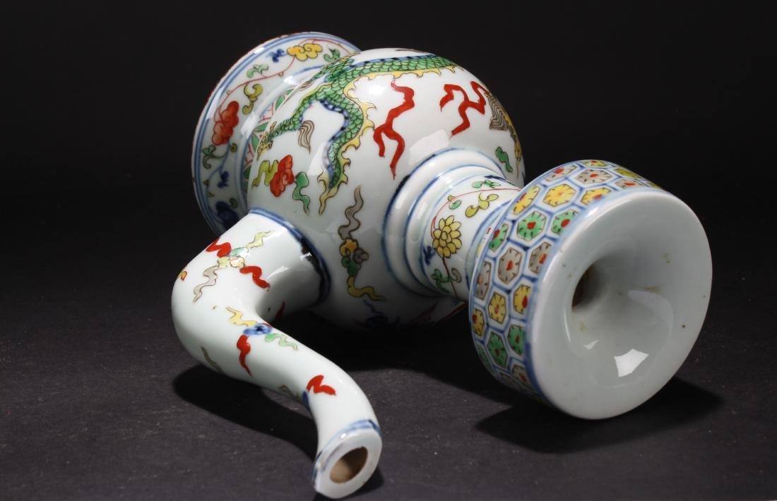 An Estate Chinese Dragon-decorating Porcelain Ewer - 5