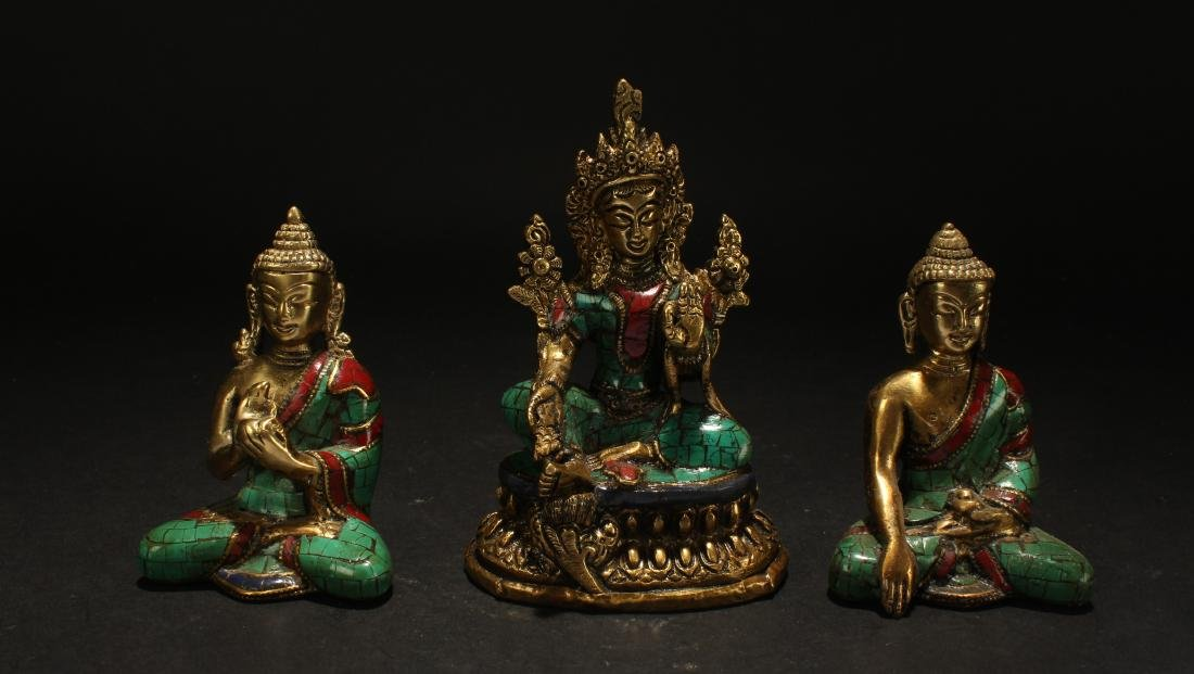 Collection of Tibetan Fortune  Statues