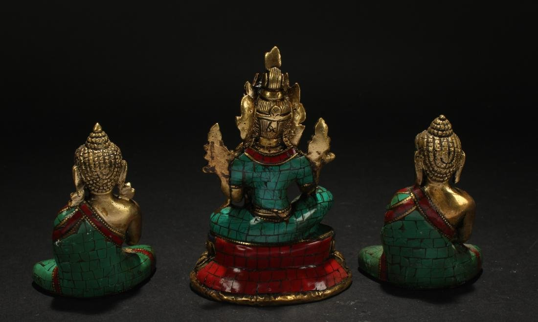 Collection of Tibetan Fortune  Statues - 4