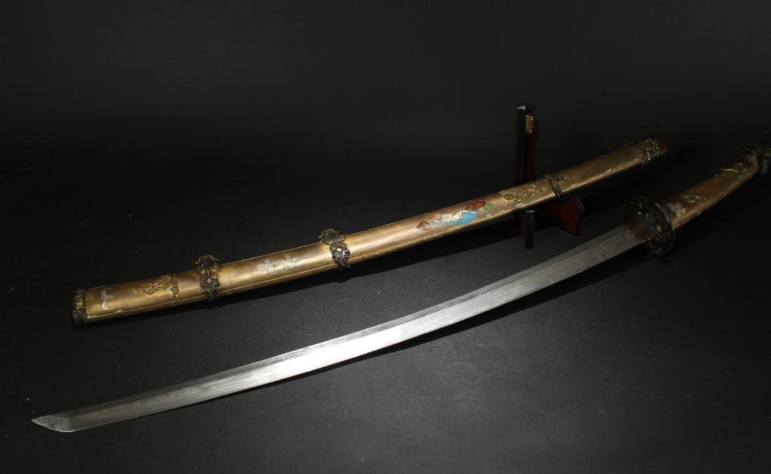 An Estate Knotted Japanese Sword - 7