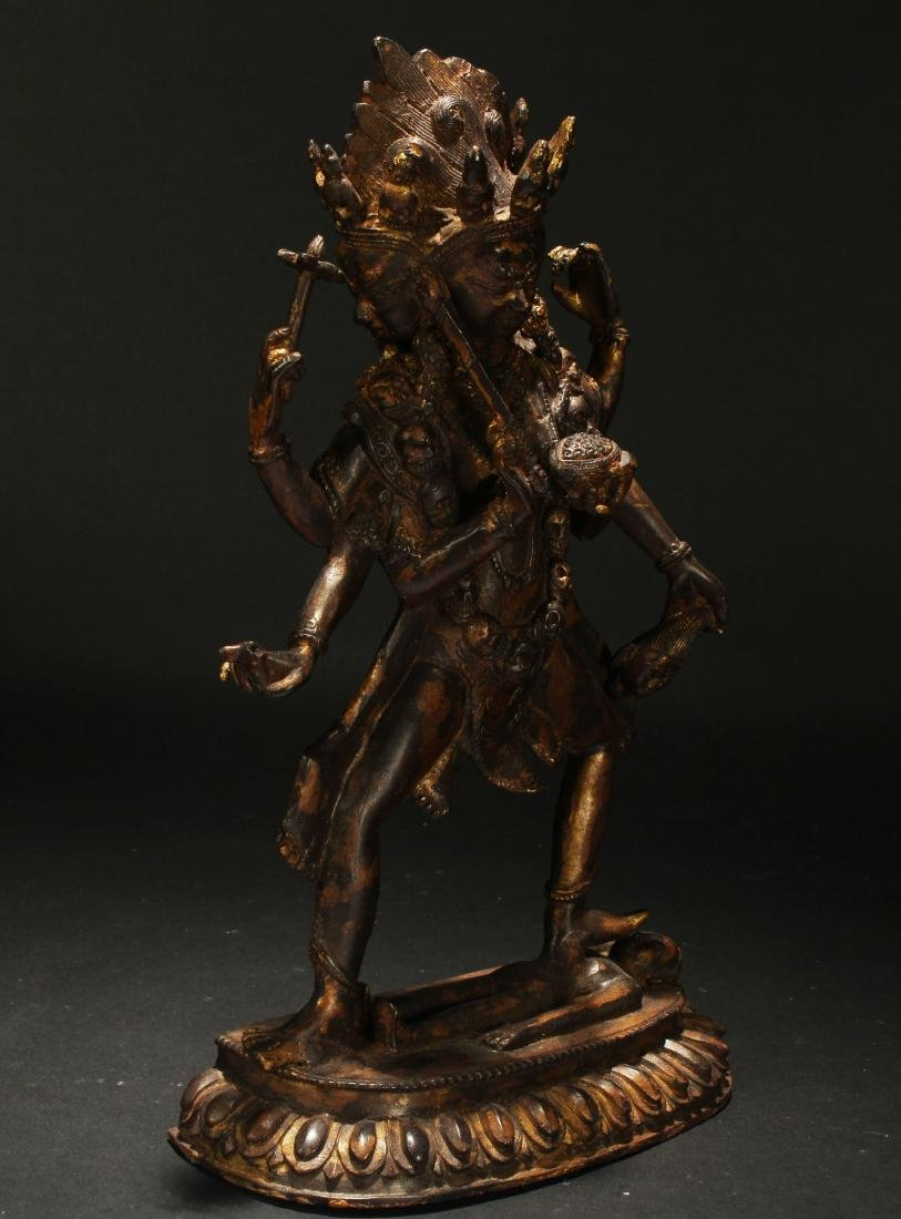 An Estate Tibetan Fortune Display Statue - 2