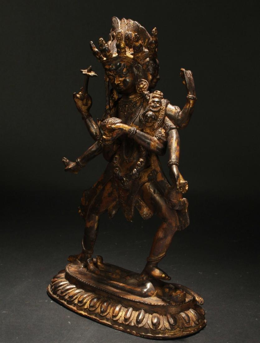 An Estate Tibetan Fortune Display Statue - 3