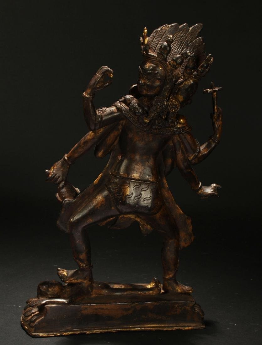 An Estate Tibetan Fortune Display Statue - 4