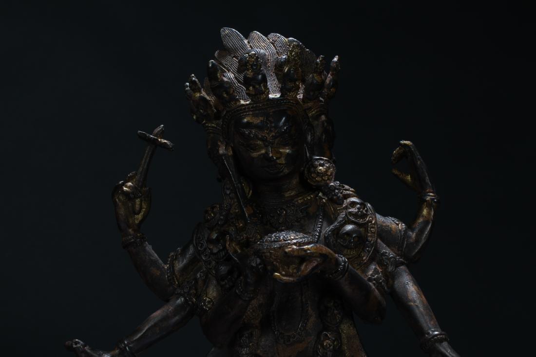 An Estate Tibetan Fortune Display Statue - 6