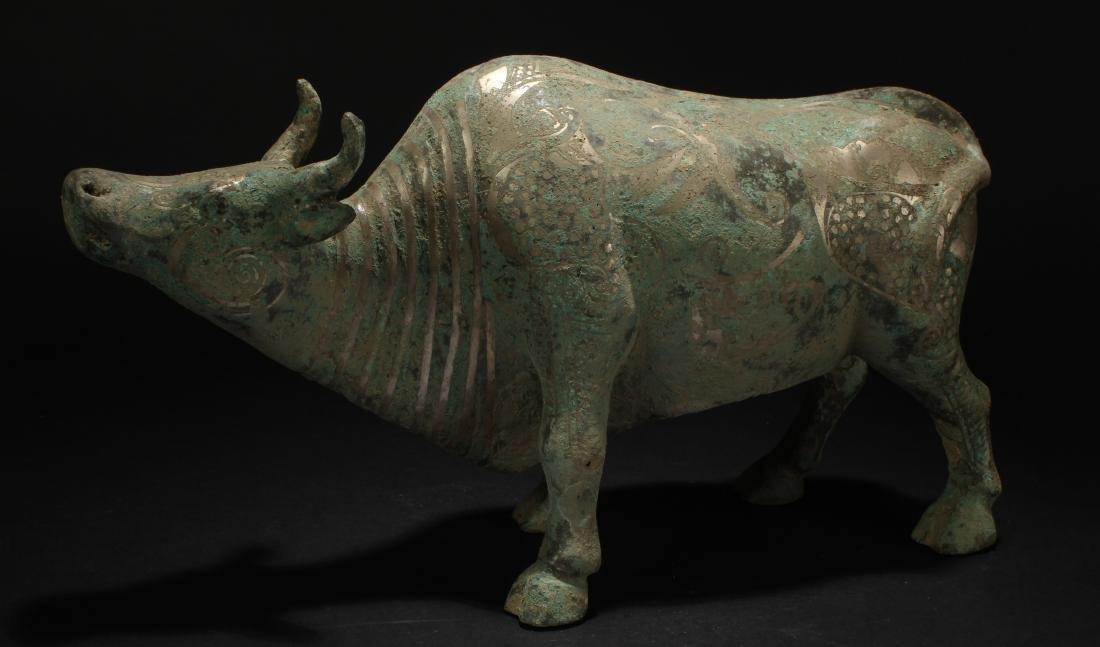 An Estate Chinese Myth-beast Bronze Vessel Statue