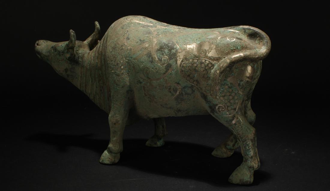 An Estate Chinese Myth-beast Bronze Vessel Statue - 2