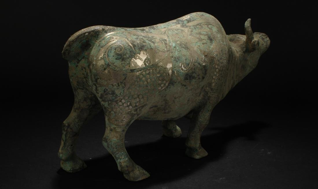 An Estate Chinese Myth-beast Bronze Vessel Statue - 3