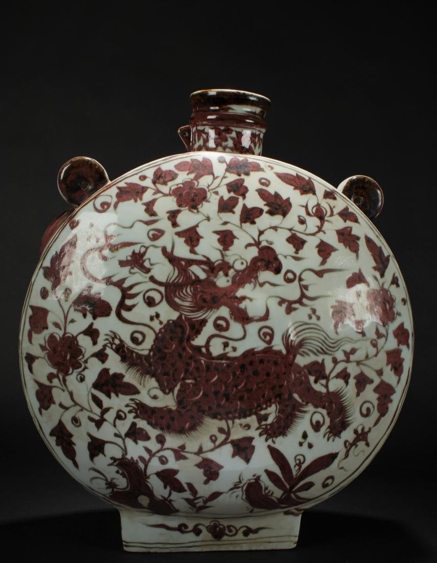 A Chinese Dragon-decorating Estate Porcelain Vase