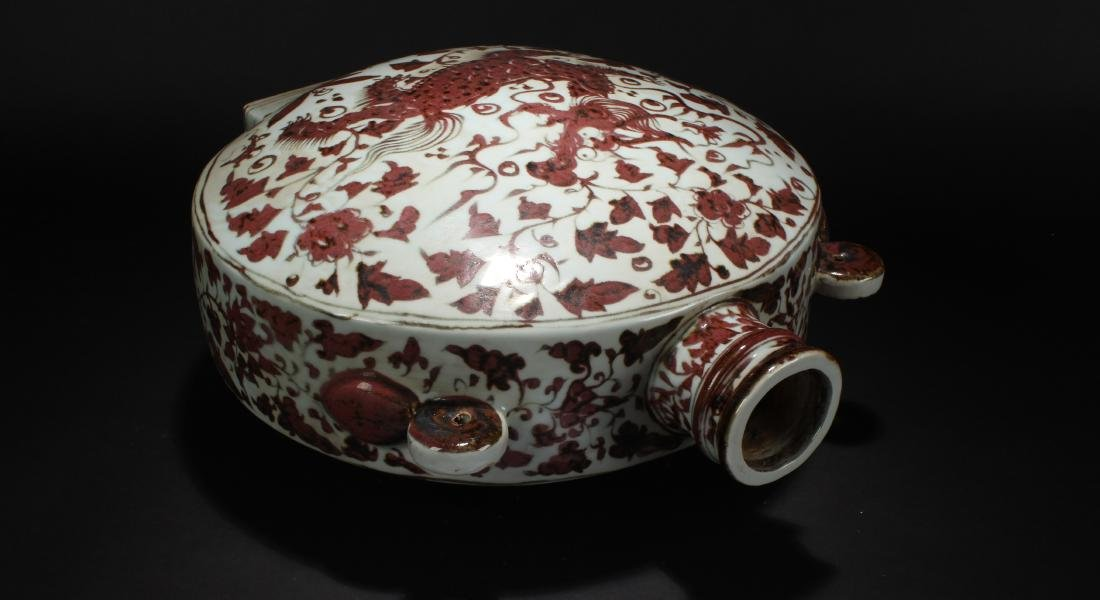 A Chinese Dragon-decorating Estate Porcelain Vase - 4