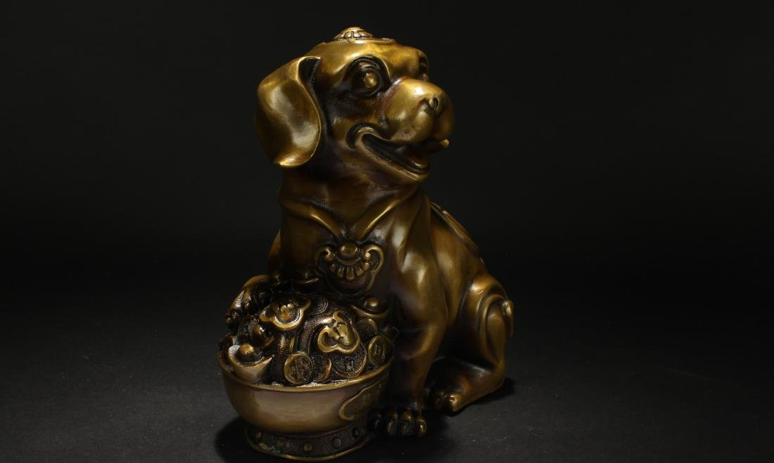 A Chinese Fortune Myth-beast Display Statue - 2