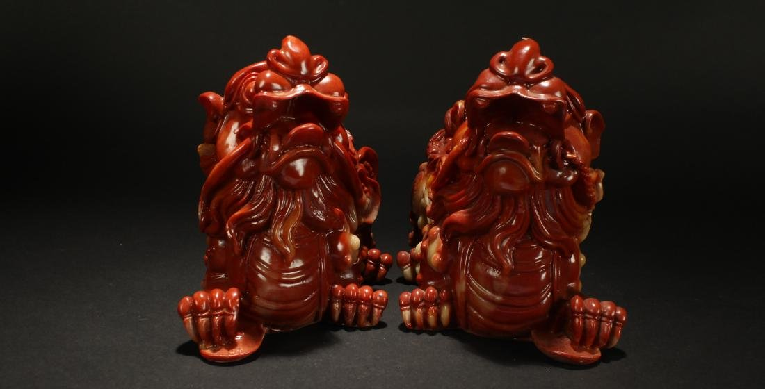 A Pair of Chinese Myth-beast Statue Display - 2
