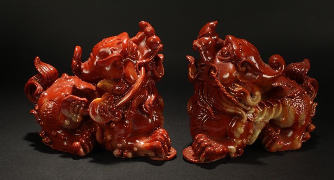 A Pair of Chinese Myth-beast Statue Display - 3