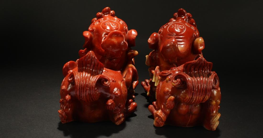 A Pair of Chinese Myth-beast Statue Display - 4