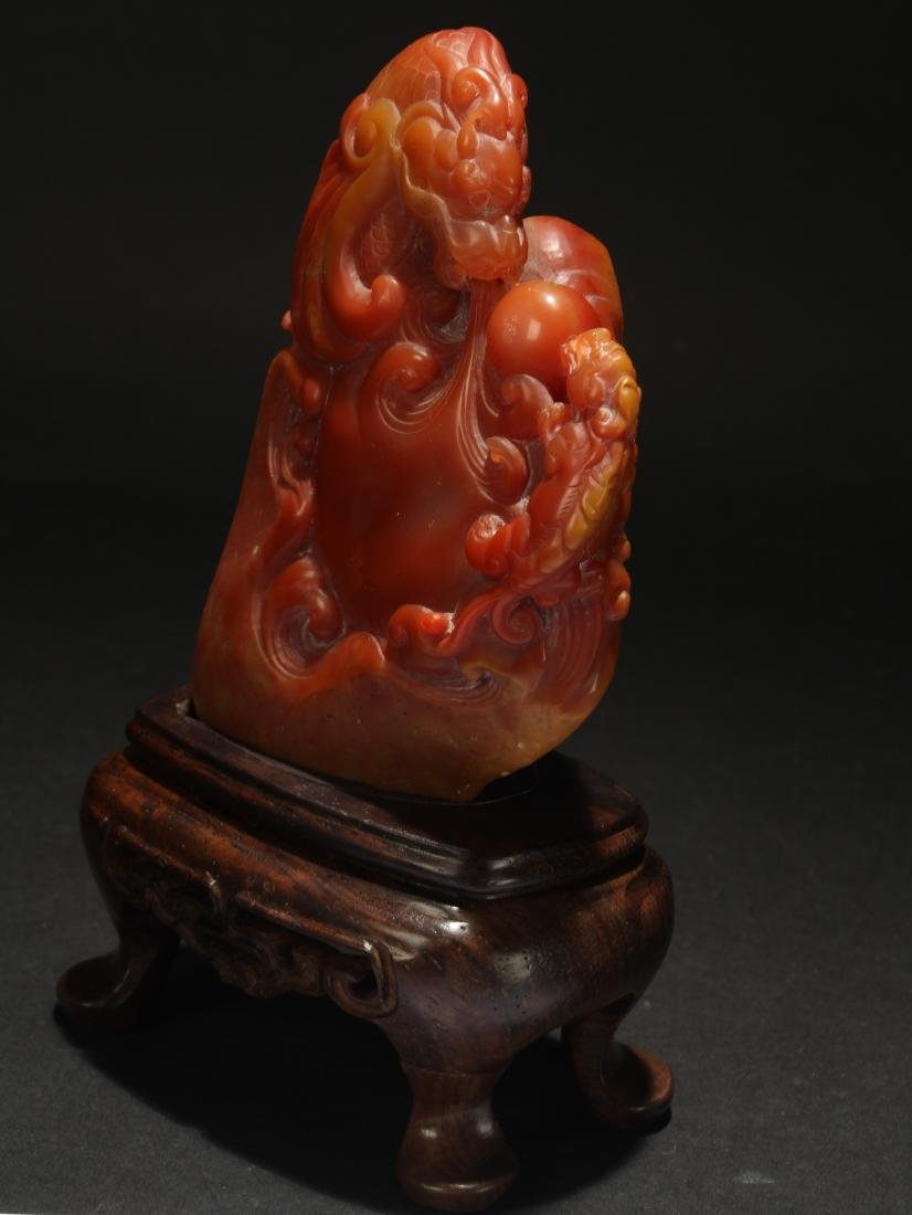 A Chinese Estate Soapstone Display Figure - 4