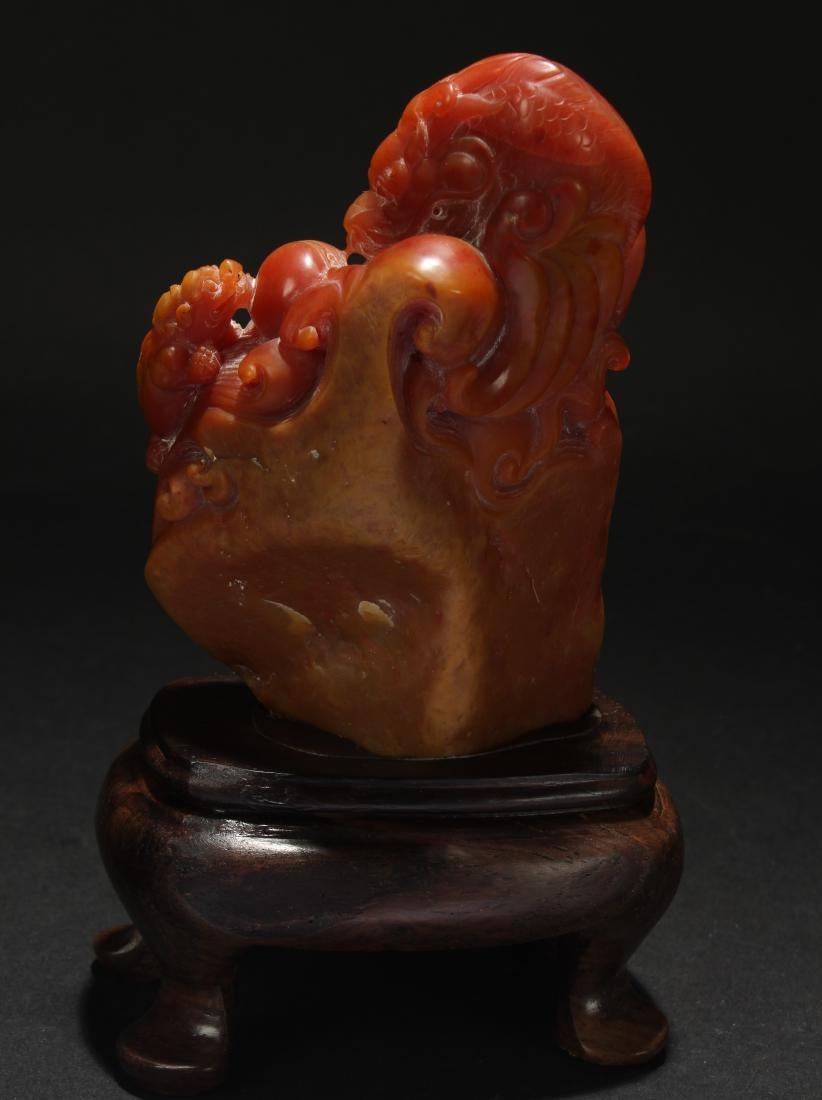 A Chinese Estate Soapstone Display Figure - 6