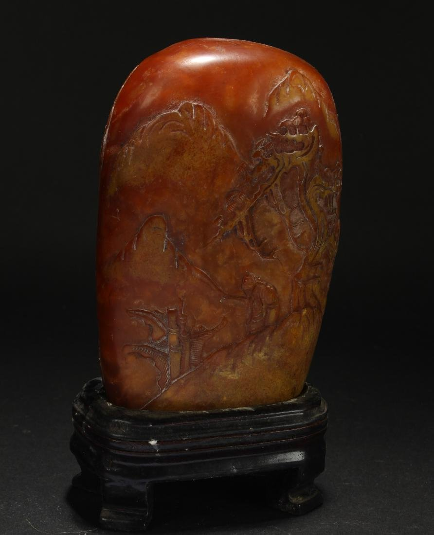An Estate Chinese Mountain-view Soapstone Figure - 4