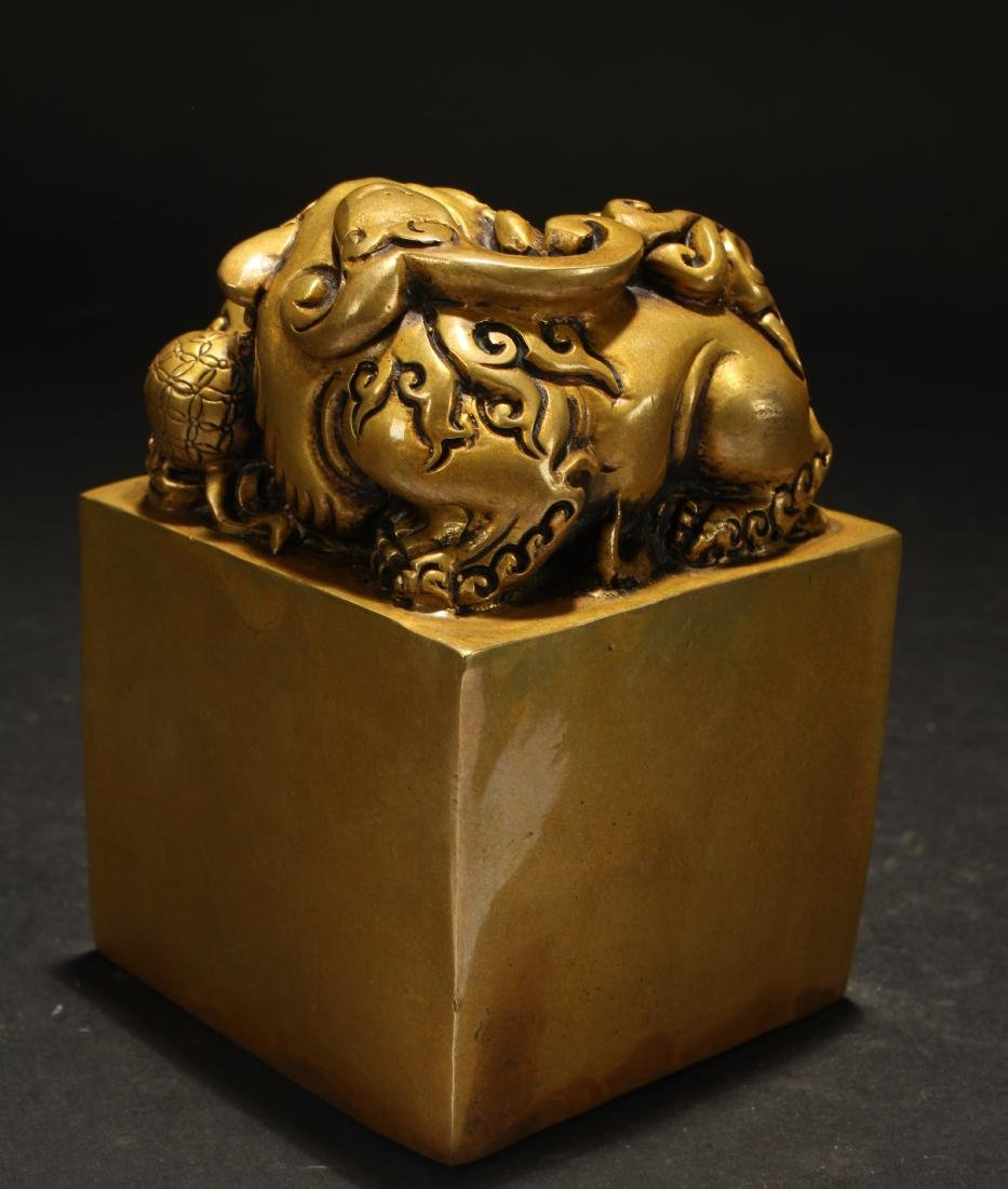 A Chinese Myth-beast Fortune Religious Seal - 3