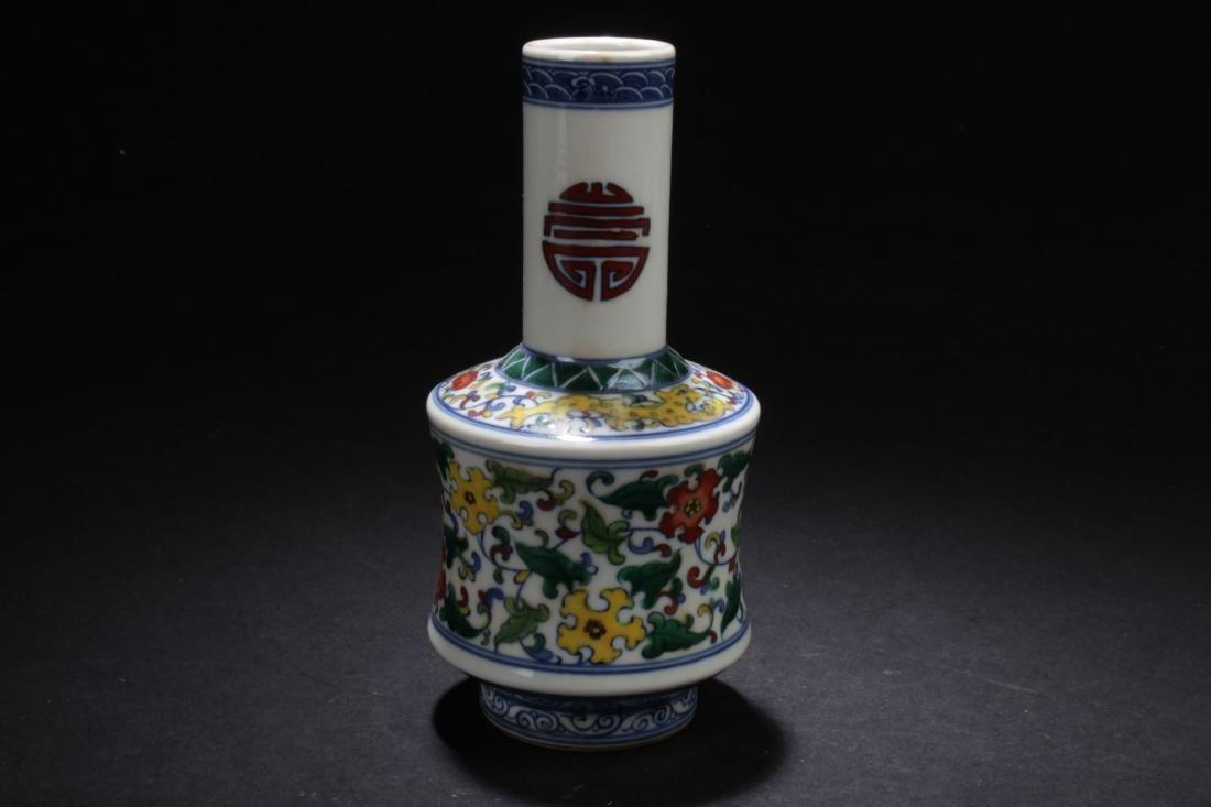 A Chinese Longlife-Fortune  Estate Porcelain Vase