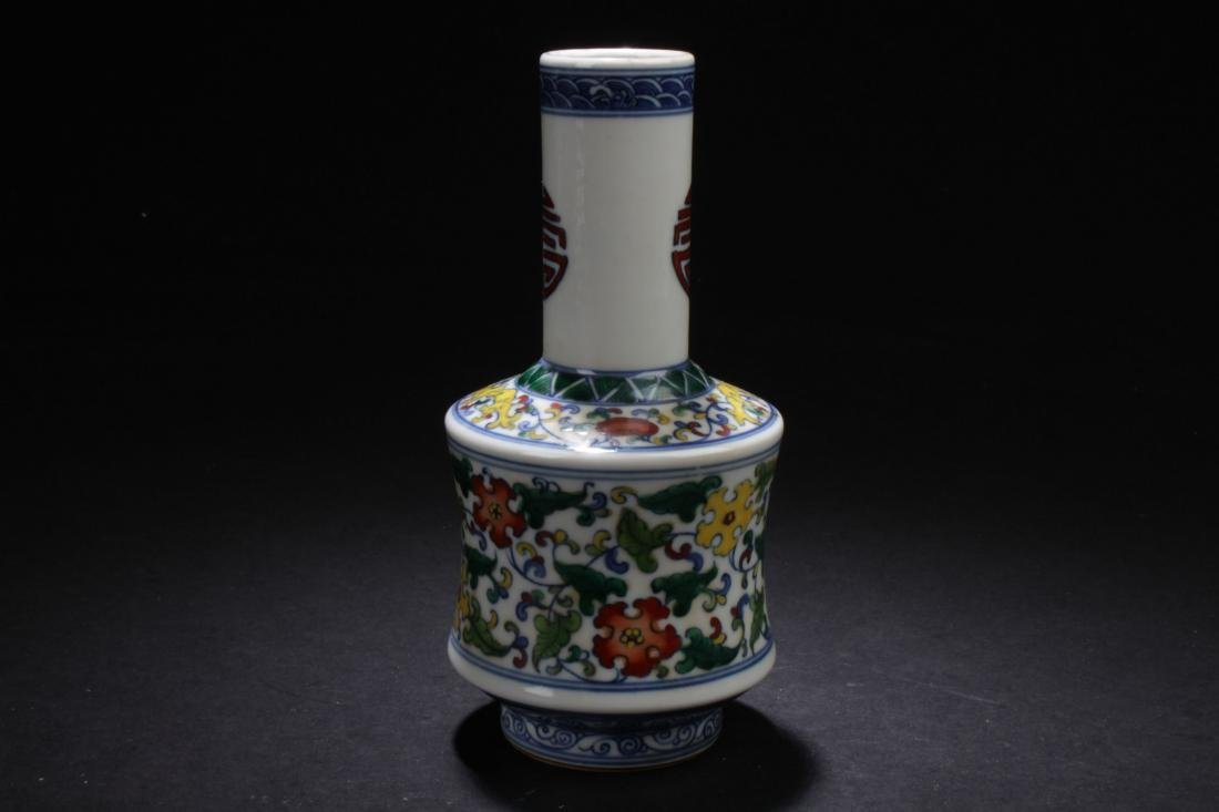 A Chinese Longlife-Fortune  Estate Porcelain Vase - 2