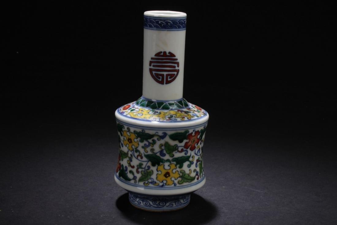 A Chinese Longlife-Fortune  Estate Porcelain Vase - 3
