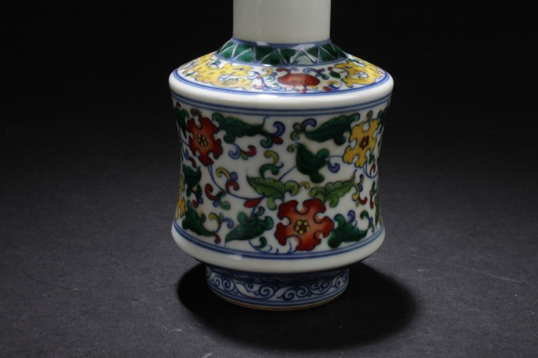 A Chinese Longlife-Fortune  Estate Porcelain Vase - 4