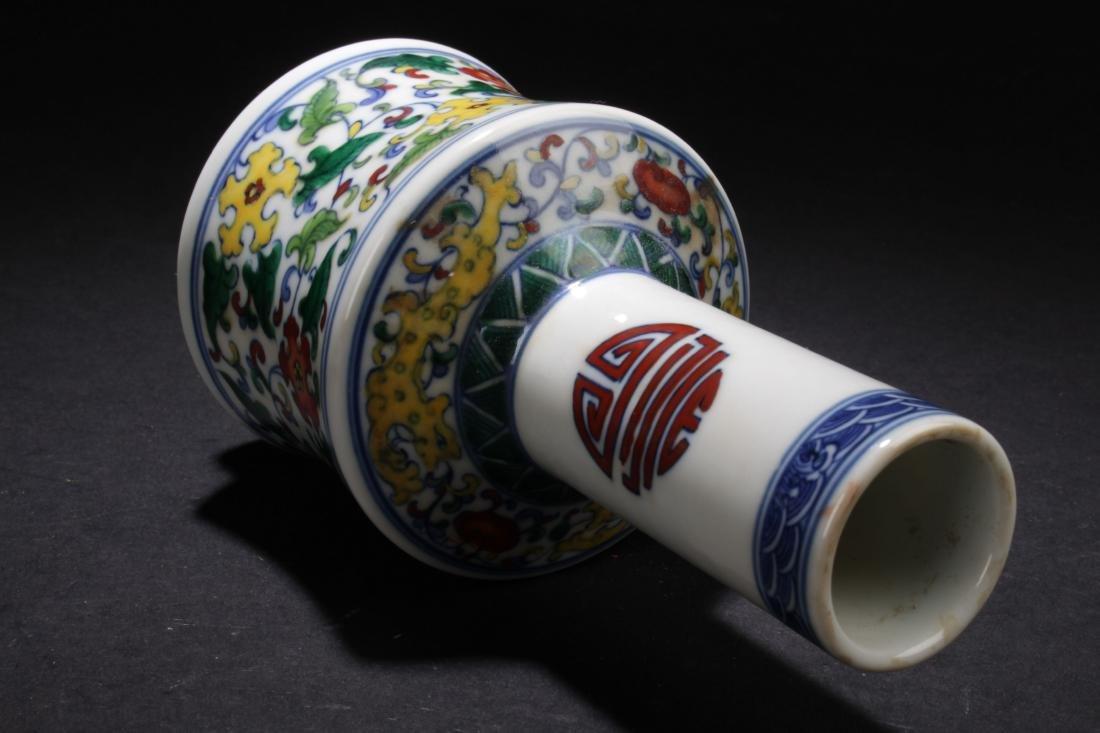 A Chinese Longlife-Fortune  Estate Porcelain Vase - 6