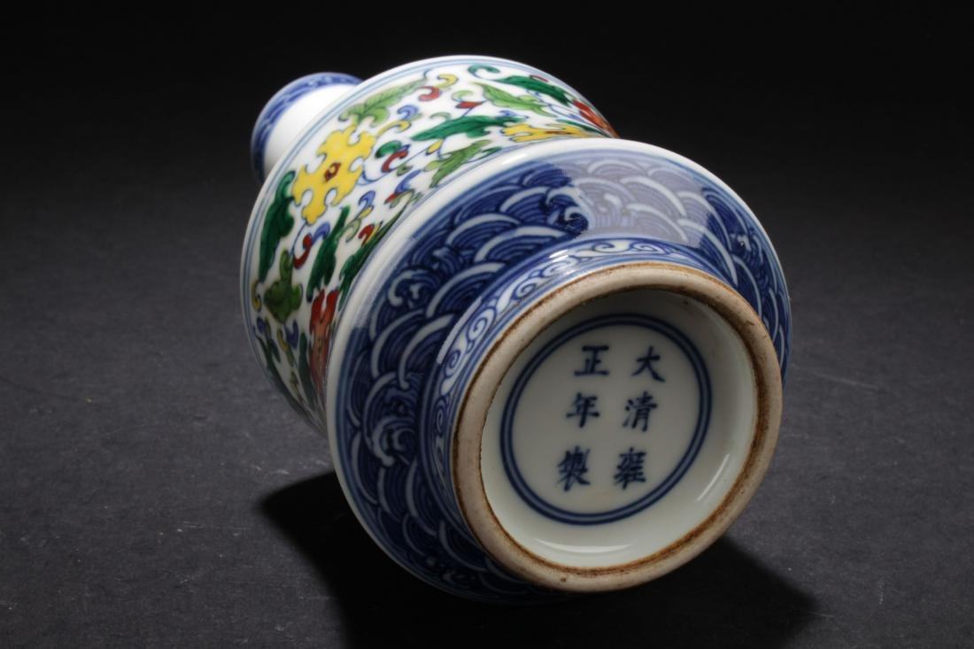 A Chinese Longlife-Fortune  Estate Porcelain Vase - 7