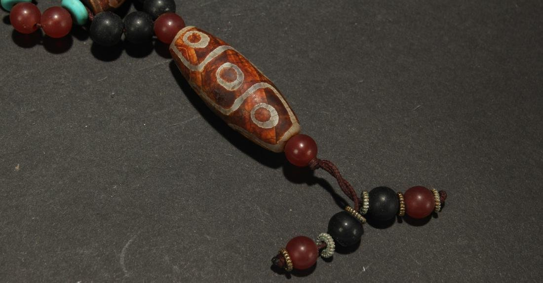 An Estate Religious Chinese Beaded Necklace - 5