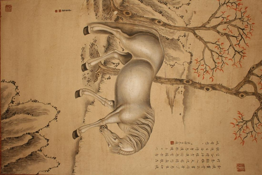 A Chinese Horse-portrait Vivid Scroll Display - 3